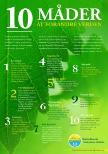 plakat med forslag til en grøn omstilling. Både mentalt, sjæleligt og praktisk #miljø #grøn omstilling #forandring #nyt tankesæt