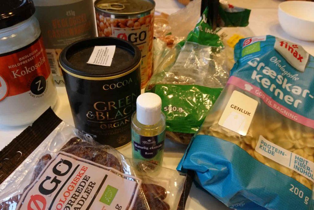 økologiske ingredienser til sunde ro mkugler uden sukker, hvede og smør
