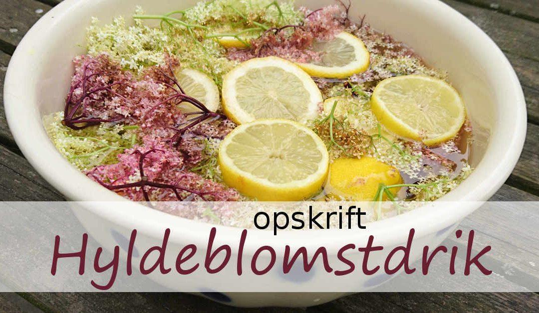 Opskrift på hyldeblomstsaft – lyserød hyldeblomstdrik med den mørke hyld Black lace
