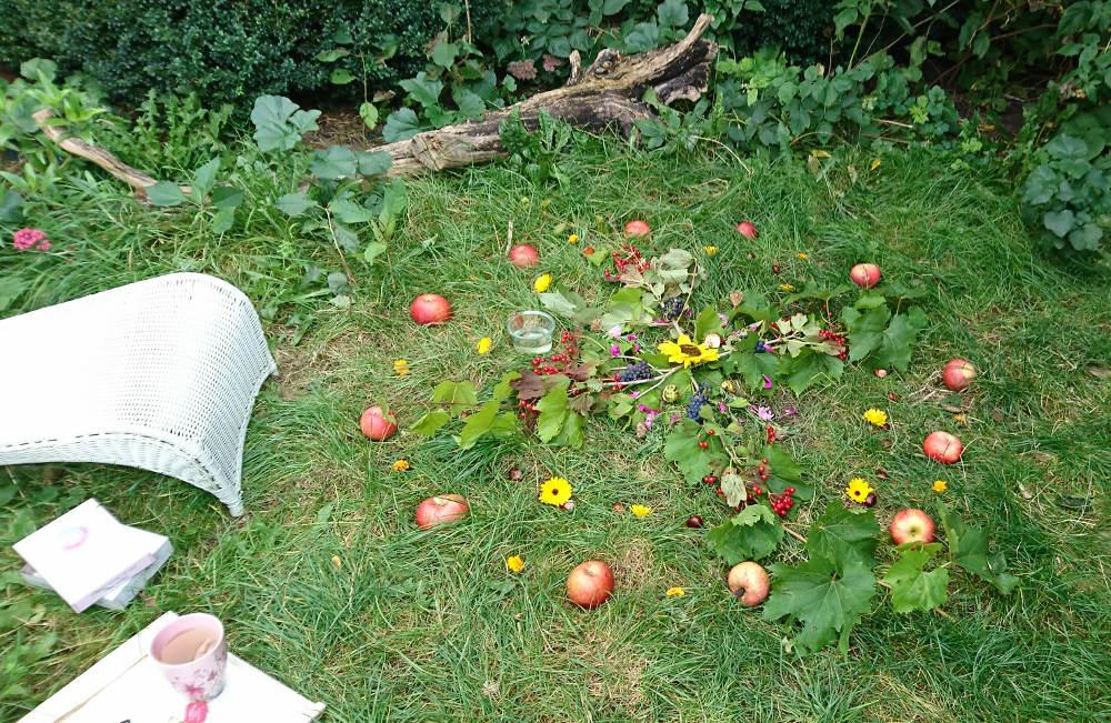 natur mandala til fejring af efterårsjævndøgn