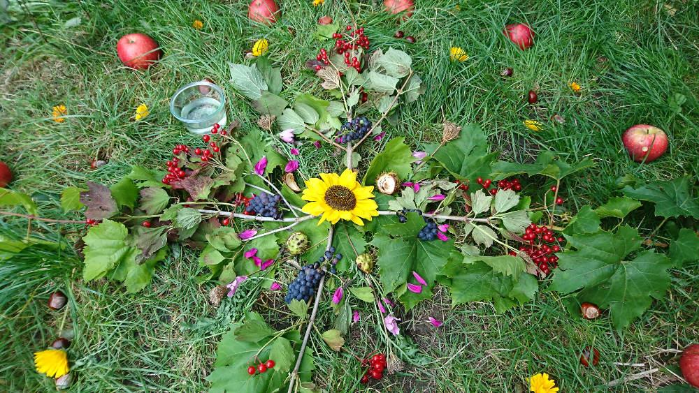 Balance med naturen og årshjulet mandala